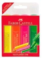 FABER-CASTELL Набор текстовыделителей Faber-Castell 1546 154604 флуоресцентные 4цв. футляр