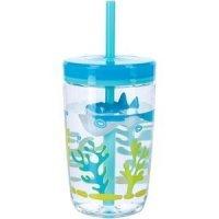 Contigo Детский стакан с соломинкой Floating straw tumbler Shark, 0.47 л