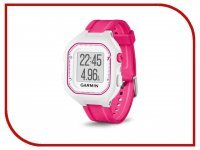 GPS-туристический Garmin Forerunner 25 Small White-Pink 010-01353-31
