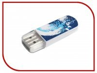 USB Flash Drive 8Gb - Verbatim Mini Graffiti Edition USB 2.0 Blue 98162
