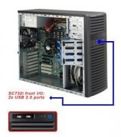 SUPERMICRO Корпус SuperMicro CSE-732I-500B Midi-Tower 500W черный
